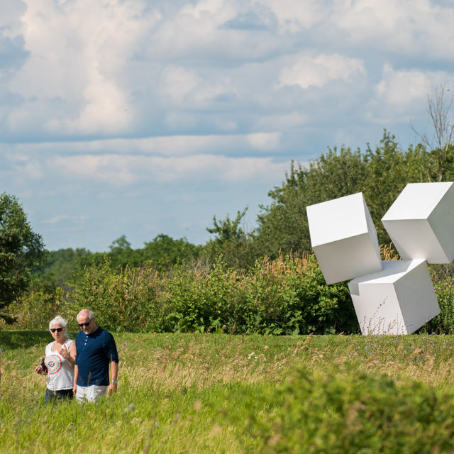 Oeno Gallery's Sculpture Garden at Huff Estates