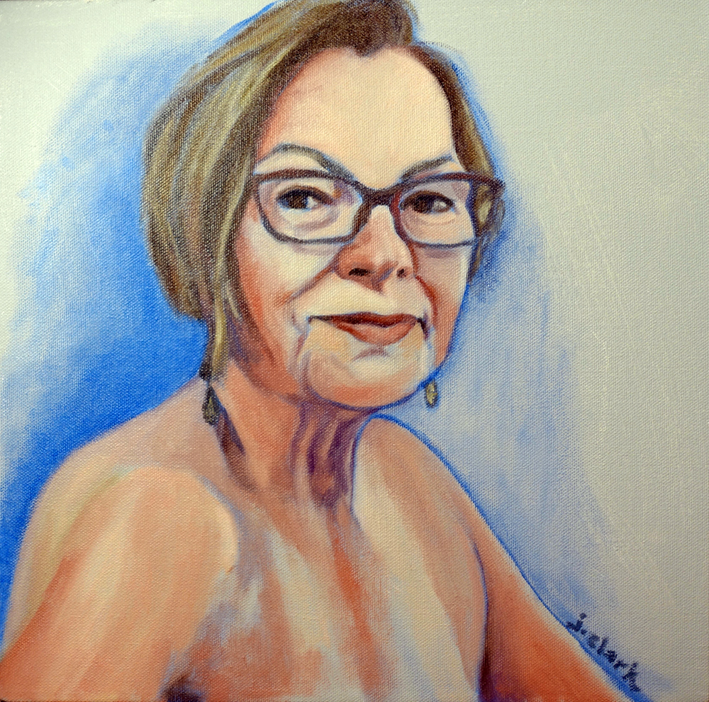 Free to Be Me by Judy Clark, oil on gallery panel