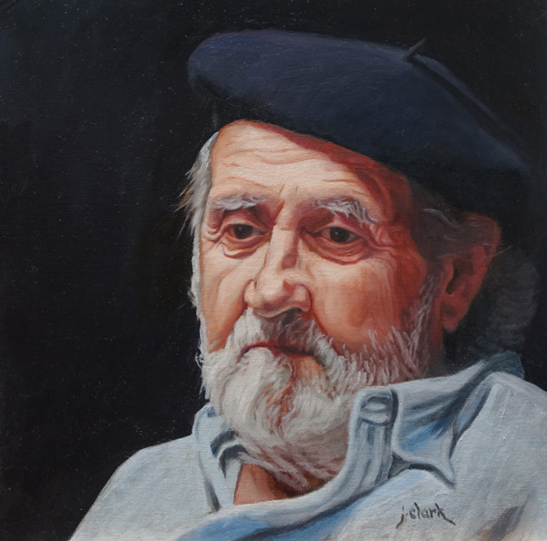Gilberto by Judy Clark, oil on canvas panel