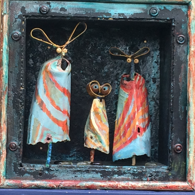 Box of Martians, by Tony Lassing - Mixed Media, Showing at the Parrott Gallery from August 30 to September 27, 2018.