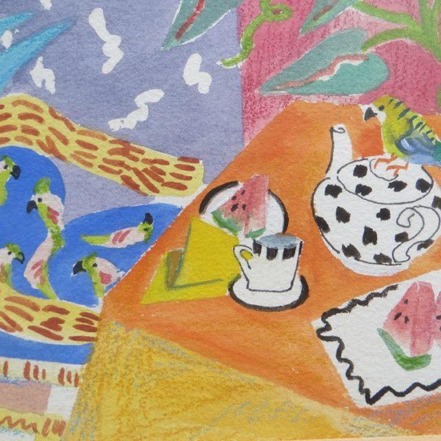 Caribbean Tea -Watercolour painting