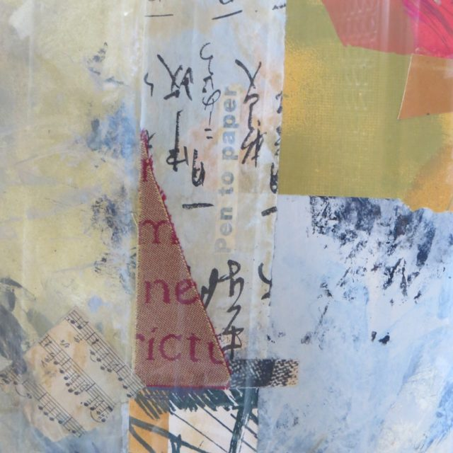 Markings - Mixed Media Collage
