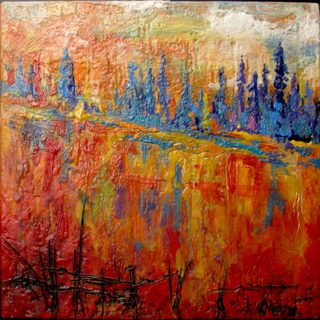 Rejoicing by Andrew Csafordi, Encaustic 10'x10'