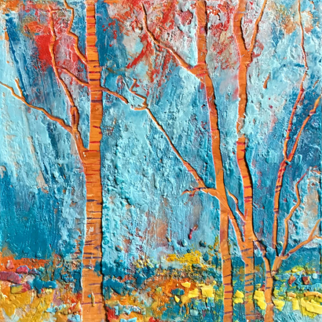 Yellow Brick Road by Andrew Csafordi, Encaustic 12'x12'