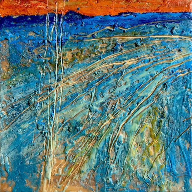 Beautiful Mystery by Andrew Csafordi, Encaustic 12'x12'