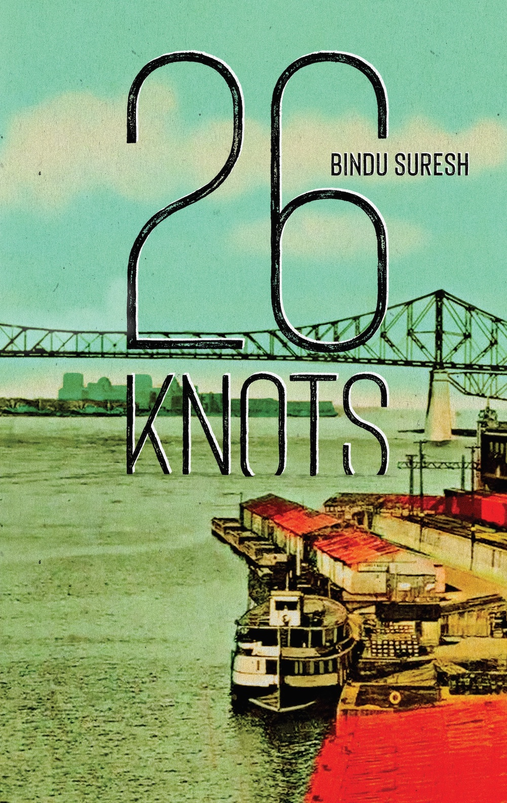 """A propulsive, taut and sultry debut, 26 Knots is a lightspeed Romeo and Juliet, a billet doux to Montreal. Bindu Suresh writes with the shine and force of a guillotine carrying us swiftly through the entanglements of love.""—Claudia Dey, author of Heartbreaker"