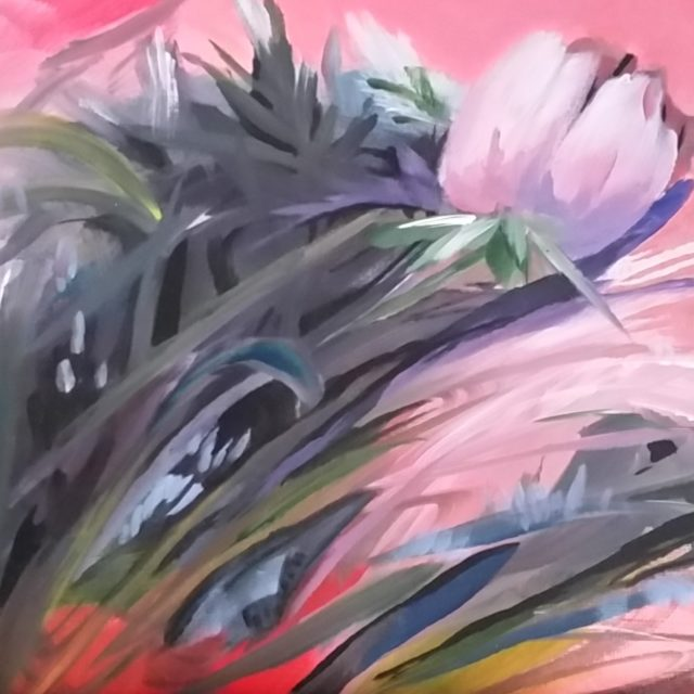 Rushing Blooms 10X8 framed