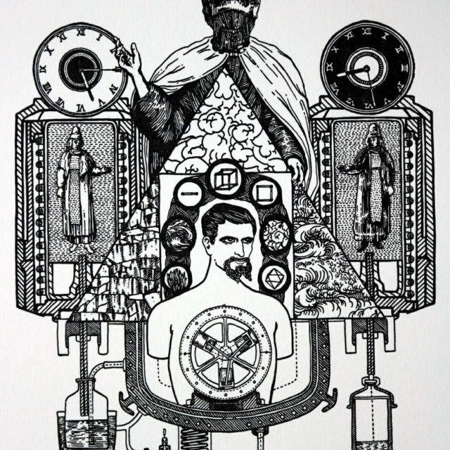 Balance of Matter by Kyle Topping, Relief Print