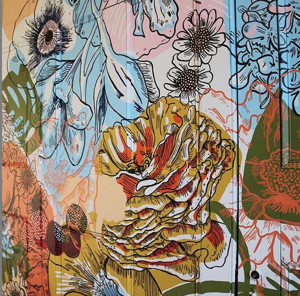 Flower Mural by Chrissy Poitras