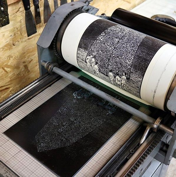 Monolith by Kyle Topping, Relief Print