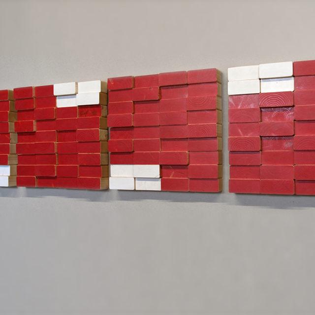 2x4x4RedxWhite  (152 x 34 cm)