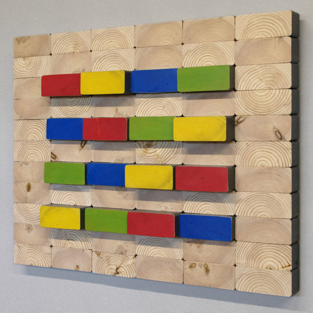 2x4x4cLines (53 x 42 cm)