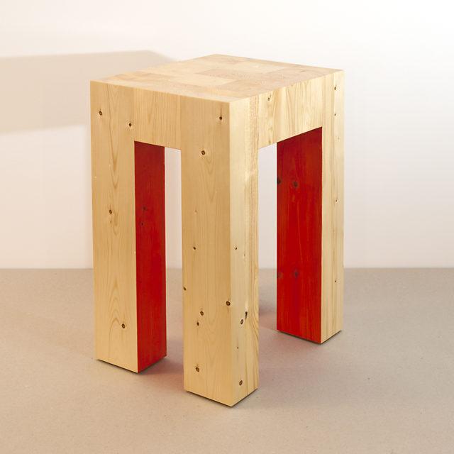 2x4xStool-Red (25 x 31 x 46 CM)