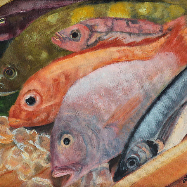 Fish Fry, Oil on Canvas
