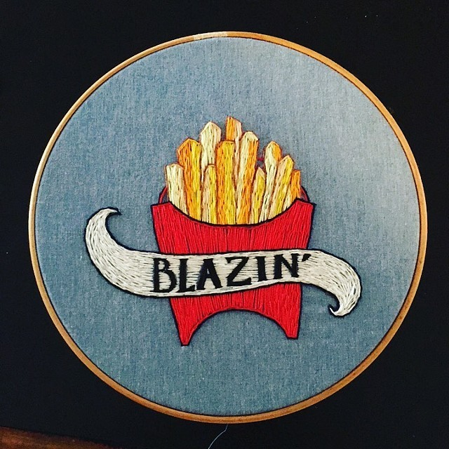 Blazin, Embroidery, 2018