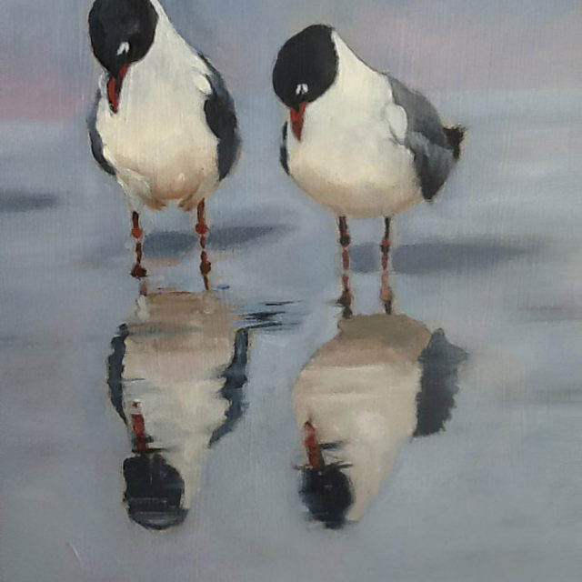 Reflections, Oil on Board