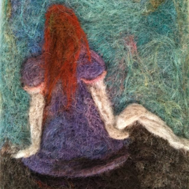 Girl With The Red Hair, Fibre Painting
