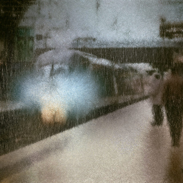 Paddington station, commuter train, pre-Covid, Inkjet on cotton rag archival paper.  Dimensions on order up to 60 inches long edge