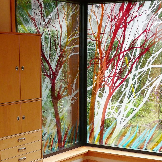 Bird-friendly glass; private residence, Picton