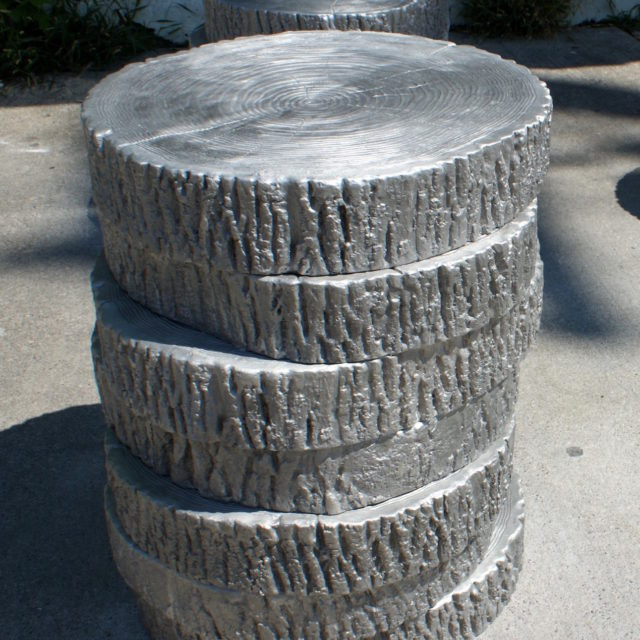 Tree Rounds, cast aluminum, public art project, city of Toronto