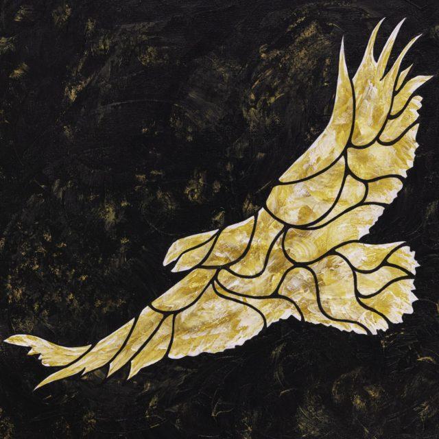 Gold Eagle on Black