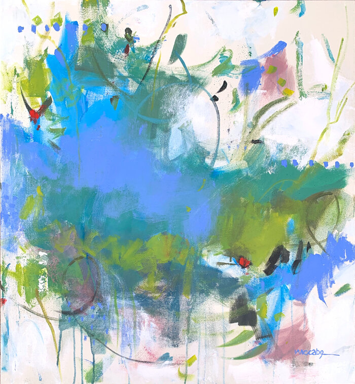 Blue Me Away by claudia jean mccabe, Dancing Brush Collection