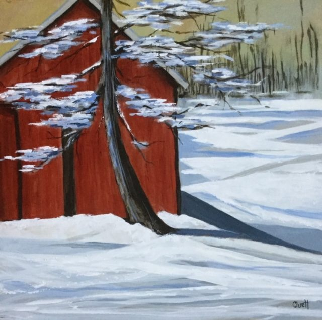Before the Wind Blows by Veronica Cluett, acrylic