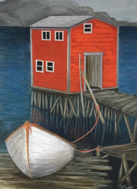 Memories of the East Coast by Veronica Cluett, acrylic