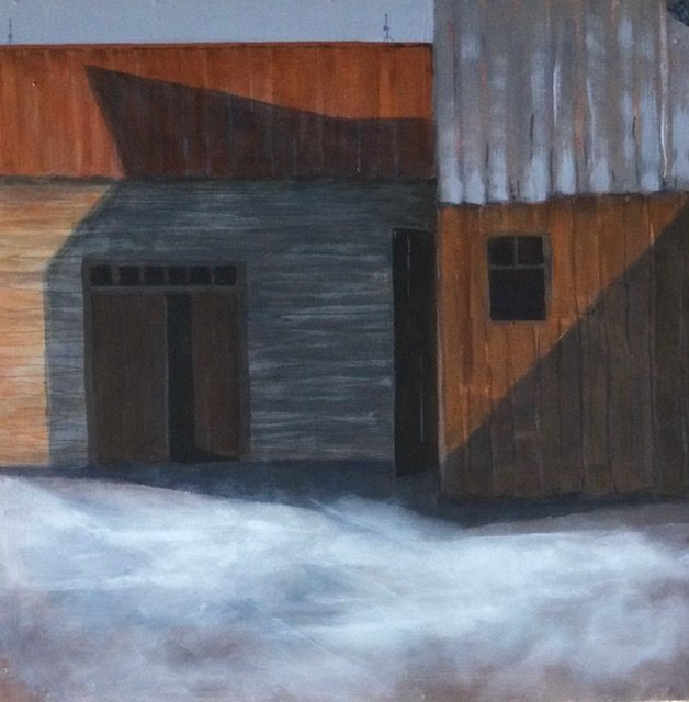 Shadows #4 by Veronica Cluett, acrylic