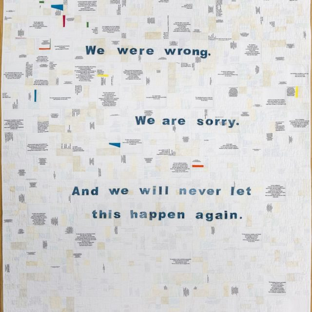 Apology Quilt by Bill Stearman, 2020