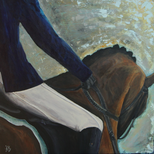 After the Ride by Agnes Bellegris, acrylic on canvas