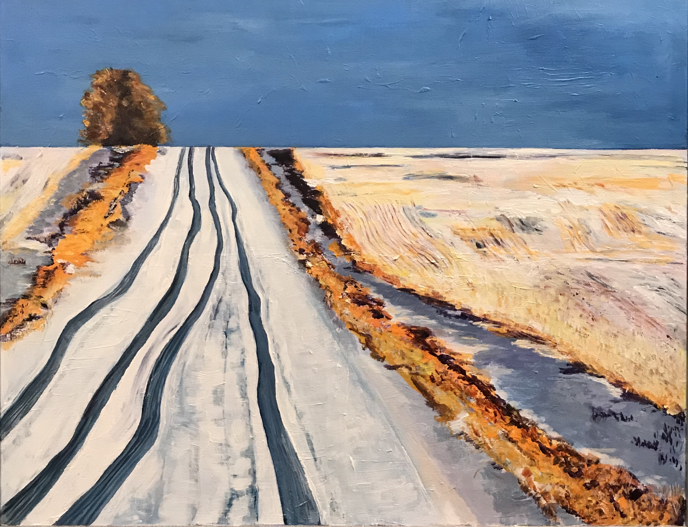 Somewhere in the Prairies by Agnes Bellegris, acrylic on canvas