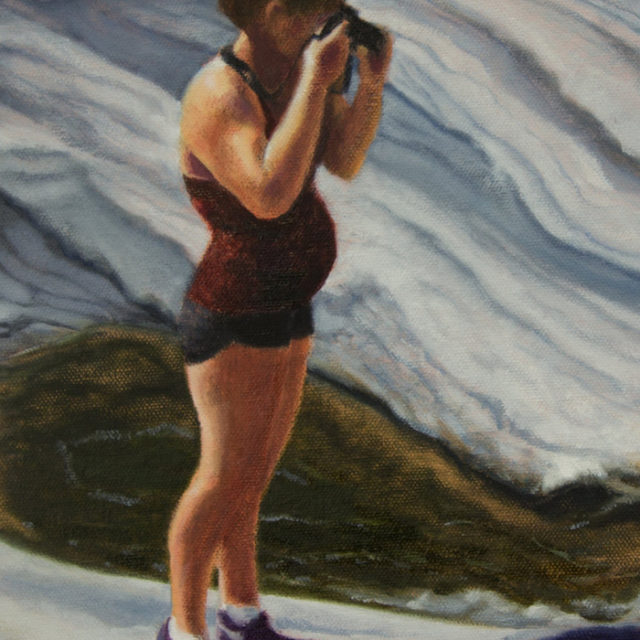 Looking Ahead (detail) by Judy Clark, oil on canvas