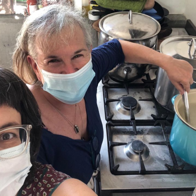 In 2021, Alchemy will continue to provide meals to PEC agricultural workers. Following safety protocols, invited artists will be in Hillier to create site-specific installations on farms and vineyards. Claire and Tonia (pictured) will collect and share stories, while providing a window into their collaborative process.