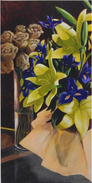 Iris and Roses by Ian Beveridge